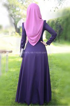 Rose Elbise Mor - Rabia Şamlı