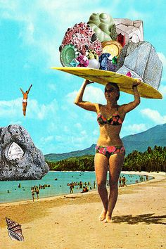 eugenia loli - Using a striking and vibrant medley of images, artist Eugenia Loli has managed to create a series of visually arresting fantasy photo collages. Collages, Surreal Collage, Surreal Photos, Collage Artists, Surreal Art, Photomontage, Johannes Itten, Collage Foto, Eugenia Loli