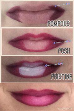 Pink ombré lip, Lip liners, pink, Younique www.allaboutthelash.com