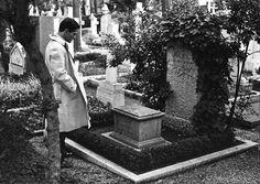 Pier Paolo Pasolini visiting Antonio Gramsci's grave. Two genius.
