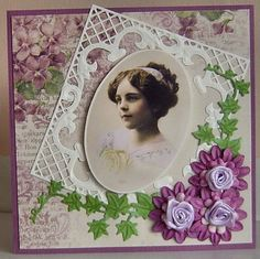 Voorbeeldkaart - nog een mooi meisje - Categorie: Stansapparaten - Hobbyjournaal uw hobby website