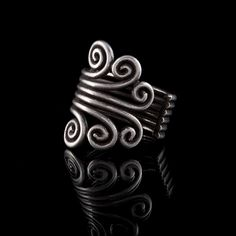 Swirly Silver Ring,Tribalik jewelry,tribal rings, tribal adornments,925 silver  ( code 196) by TRIBALIK on Etsy