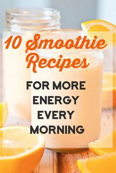 Great list of energy boosting smoothie recipes.