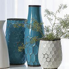 Hive Vases - loving this great geometric pattern