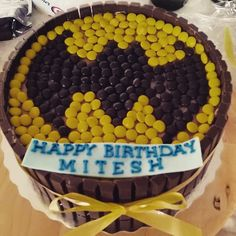 Batman Cake - M&Ms and Kit Cats