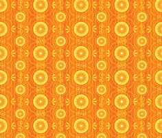 Solar Blossoms by robyriker, click to purchase fabric