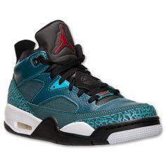 Men's Jordan Son of Mars Low Basketball Shoes | FinishLine.com | Dark Sea/Gym Red/Black/White