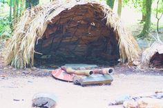 Aboriginal housing mostly consisted of simple shelters made from a framework of straight branches, then covered with leafy branches or sheets of bark.  The covering depended on locally available materials at the time. In some areas sheets of soft paperbark, easily pulled from trees, were available. In other areas stiffer sheets of thick stringy-bark were cut from trees, but if these were unavailable, then bushes and leafy branches were used.