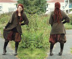 Linn Mickelsson - Lindex Green Knit, H&M Black Basic Shirt, Hare Patchwork Harem Pants, Dinsko Boots - Kirtan ~ Ayahuasca
