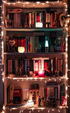 This is my kind of bookshelf: used for much more than just books.