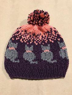 Knit a Purrrfect Cat-tastic Hat . FREE Pattern by Christina Ross handmade free pattern Knit a Purrrfect Cat-tastic Hat … FREE Pattern by Christina Ross Knitting For Kids, Easy Knitting, Knitting Projects, Knitting Ideas, Bonnet Crochet, Knit Crochet, Crochet Hats, Knit Hats, Knitting Hats