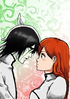 Software: Adobe Photoshop CS6 Time: 3 hours  Yes, I do ship Ulquihime <3 (or used to. You know, Ulquiorra has died :'( - even though I still have faith he'll come back somehow… ). I decided to make this fanart to show how much I like those two. I know it looks a bit sketchy, but I like the result nonetheless I hope you'll like it too. Please, let me know :)  Ulquiorra Schiffer and Inoue Orihime are characters from Bleach and belong to Kubo Tite.