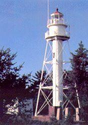 La Pointe Light Station in Ashland County, Wisconsin.