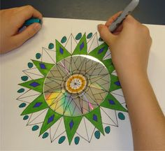 mrspicasso's art room: mandalas - step by step instructions- This activity has fabulous links to maths as well