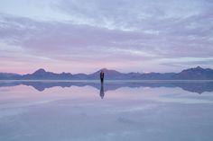 Bonneville Salt Flats mountains | ©NanetteWong