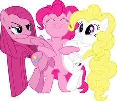 Pinkamena, Pinkie Pie and Surprise.
