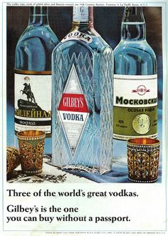 Sell Me Yesteryear: Gilbey's Vodka