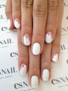 polka dot cloud nails