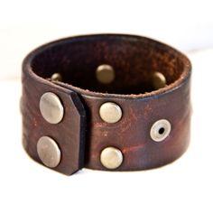 Men's Retro Vintage Fashion Leather Cuff Accessory by rainwheel, $35.00