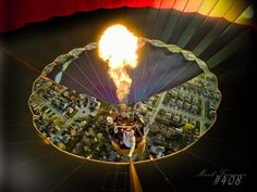 View from inside a Hot Air Balloon