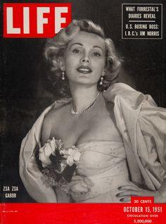 "Life Magazine cover, ""Zsa Zsa Gabor"", October 15, 1951"