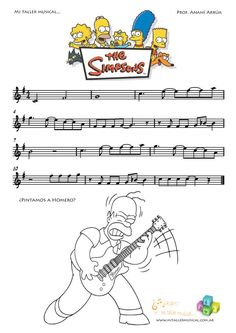 the Simpsons – Musical instruments Trombone Sheet Music, Trumpet Sheet Music, Saxophone Music, Music Chords, Piano Sheet Music, Music Songs, Piano Music Easy, Piano Music Notes, Music Lessons