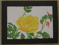 Yellow Rose - marker pens.