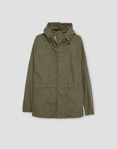 Pull&Bear - hombre - ropa - abrigos y cazadoras - cazadora ligera capucha - kaki - 05710824-I2016