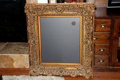 Very Large Vintage Ornate AntiqueGold Bronzed Framed by PoshPilfer, $175.00