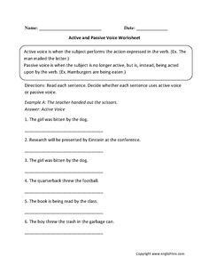 Worksheets Active And Passive Voice Worksheets With Answers our 5 favorite prek math worksheets activities language and 5th active passive voice worksheet