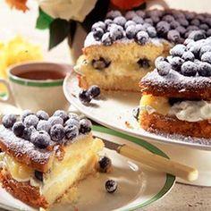 Blueberry and lemon curd cake - cake recipe | Good Housekeeping