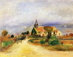 Village by the Sea - Pierre-Auguste Renoir