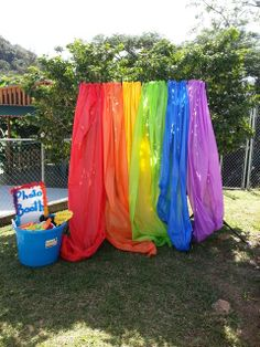 Rainbow party Photo booth