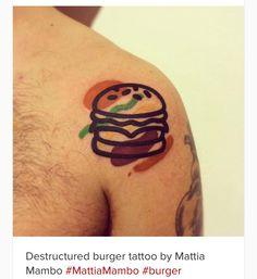 Burger tattoo