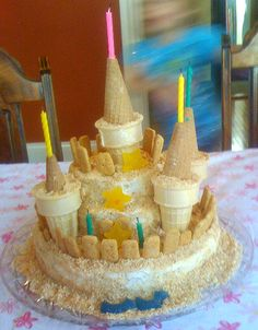 How to Make a Sand Castle Cake