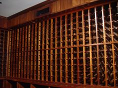 African mahogany.  Wine Cellar By Cellarmaker.