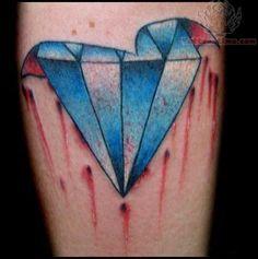 Broken Crystal Diamond Tattoo