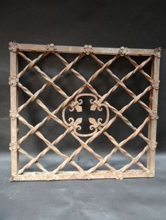 Hand Forged Wrought Iron Clerestory Window Grills A440 | Eric Berg's Early California Antiques | EarlyCaliforniaAntiques.com
