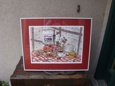 Jacqueline Gnott Breakfast In America Lithograph 1991 Corn Flakes Retro  #Realism