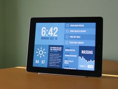 Nice iOS layout Morning Assistant found on Dribbble. Beautiful.