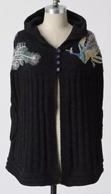 Great for Anthropologie Sleeping On Snow Plumed Peacock Hooded Poncho Cape Sz M/L womens Sweaters from top store Hooded Poncho, Hooded Sweater, Sweater Cardigan, Knitted Cape, Types Of Sleeves, Wool Blend, Hoods, Anthropologie, Sweaters For Women