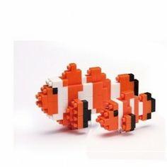 Nanoblock animal - Anemoonvis / Clownfish