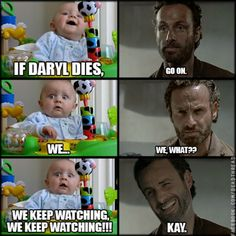 if daryl dixon dies we.. haha. walking dead