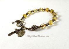 Miraculous Medal Rosary Bracelet Bohemian by TheRosaryWorks