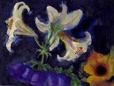 nolde : lilien and glockenblumen