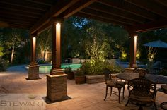 An extended patio or pavilion is completely transformative and always impressive. #StewartLandDesigns
