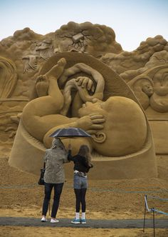 We Are Human, Sand In Your Eye, sand sculpture