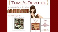 Blogger Custom Blog Design - Tome's Devotee - Book Blog Design