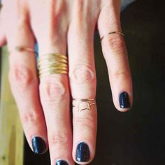 Or above. | The Art Of Wearing Adorable Tiny Rings