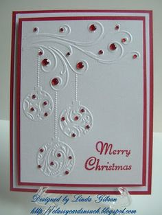 Really like this embossing folder...
